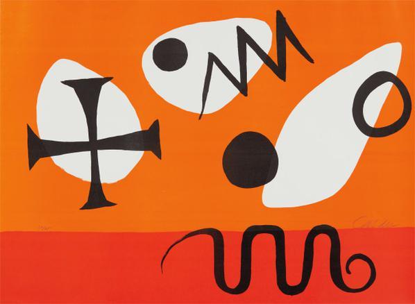 Alexander Calder-Jaune Douef (Egg Yolk)-1969