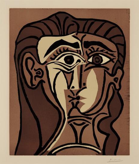 Pablo Picasso-Portrait De Jacqueline De Face Ii (Portrait Of Jacqueline, Face Ii)-1962