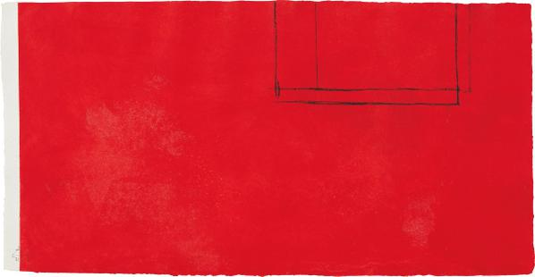 Robert Motherwell-Red Open With White Line-1979