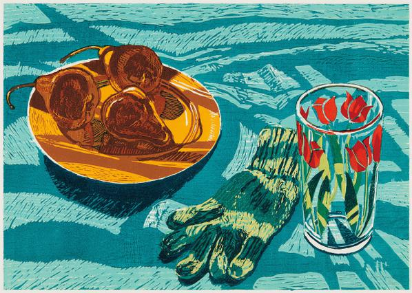 Janet Fish-Pears And Glove-1985