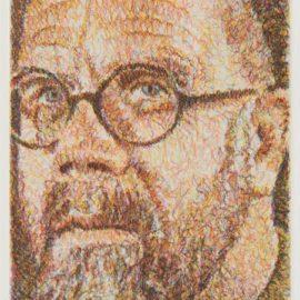 Chuck Close-Self Portrait/Squiggle/Etching-2000