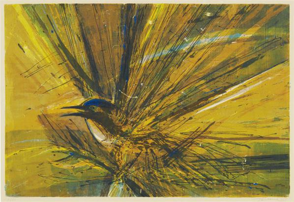 Wayne Thiebaud-Untitled (Bird)-1958