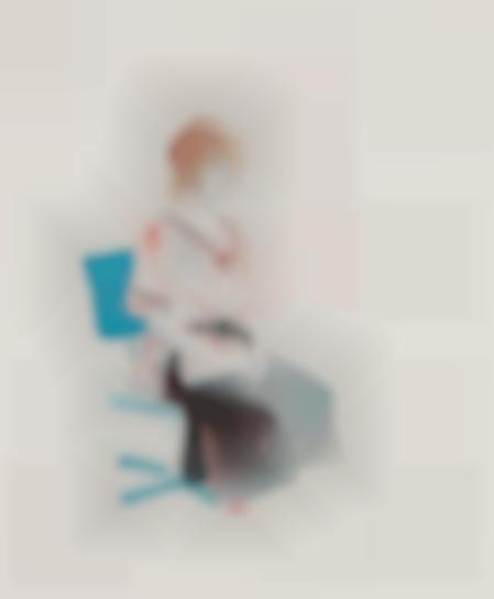 David Hockney-Celia Seated On An Office Chair-1974