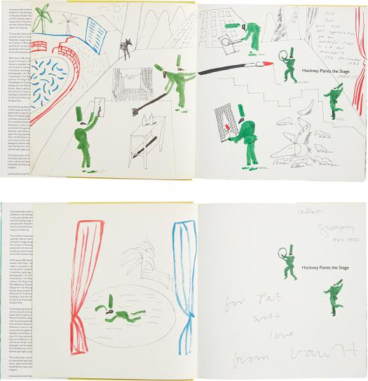 David Hockney-Hockney Paints The Stage: Two Books With Hand-Drawings-1983