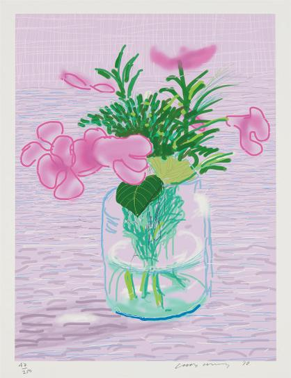 David Hockney-Untitled (Ipad Drawing), From A Bigger Book, Art Edition A-2016