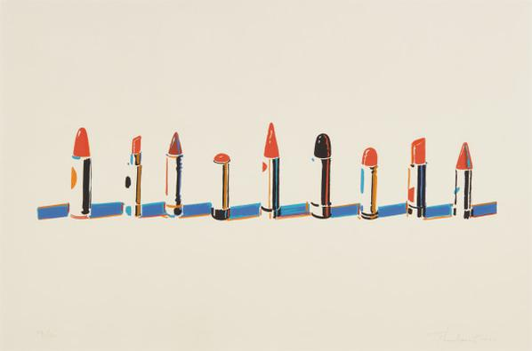 Wayne Thiebaud-Lipstick Row, From Seven Still Lifes And A Rabbit-1970