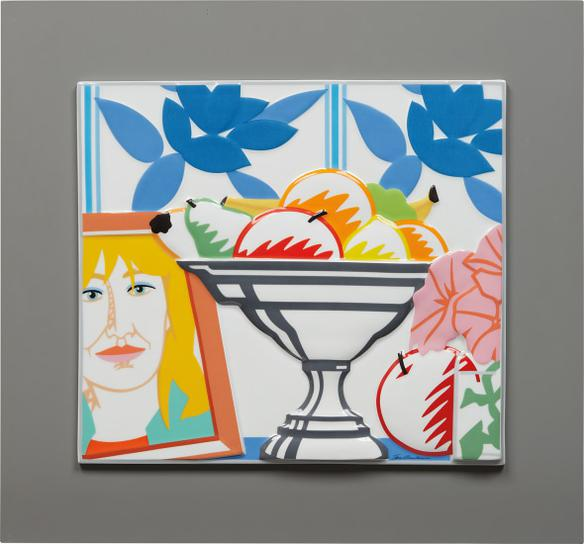 Tom Wesselmann-Still Life With Fruit, Petunias And Claire-1988