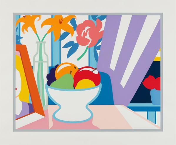 Tom Wesselmann-Stil Life With Lilies And Mixed Fruit-1998