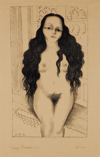 Diego Rivera-Desnudo De Lola Olmedo (Lola Olmedo Nude)-1930