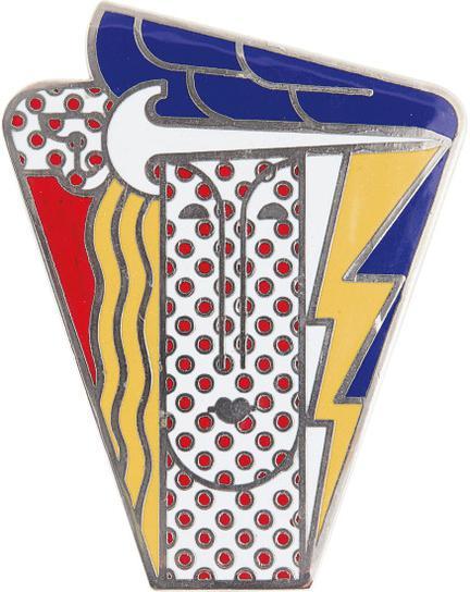 Roy Lichtenstein-Modern Head Brooch-1968