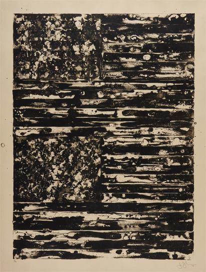 Jasper Johns-Two Flags-1980