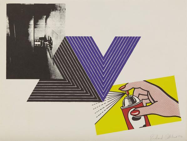 Richard Pettibone-Appropriation Print (With Andy Warhol, Frank Stella And Roy Lichtenstein)-1970