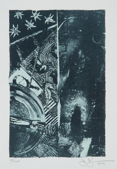 Jasper Johns-Summer (Blue)-1991