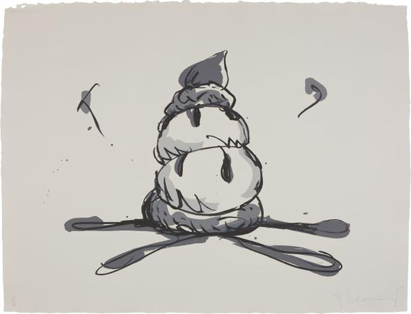 Claes Oldenburg-Profiterole/Gray State-1990