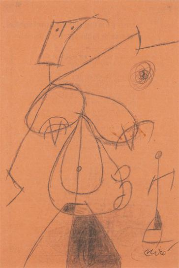 Joan Miro-Femme (Woman)-1977