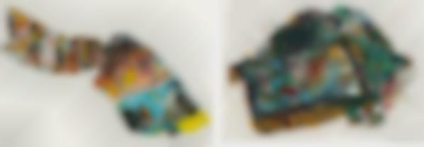 Malcolm Morley-Miami Postcards: Two Plates-1973