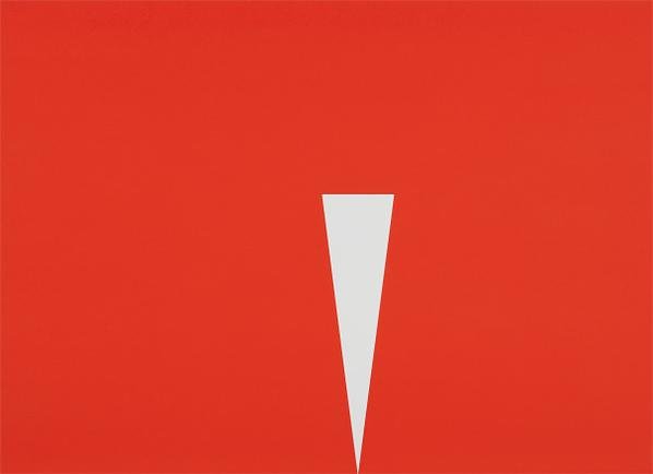 Carmen Herrera-Red With White Triangle-2009