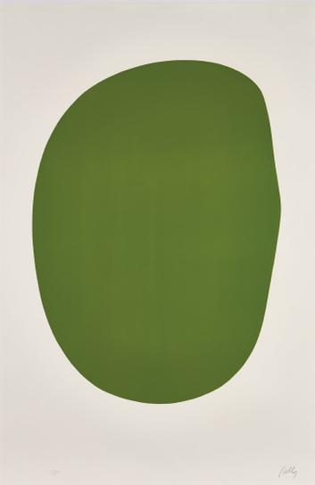 Ellsworth Kelly-Green (Vert), From Suite Of Twenty-Seven Color Lithographs-1965