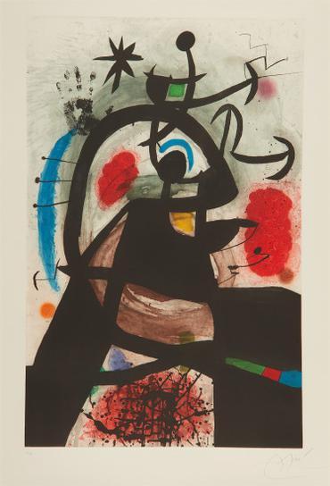Joan Miro-Le Permissionaire (Soldier On Leave)-1974