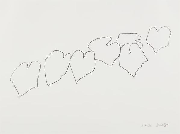 Ellsworth Kelly-Wild Grape Leaves I, From Series Of Five Plant And Flower Lithographs-2004