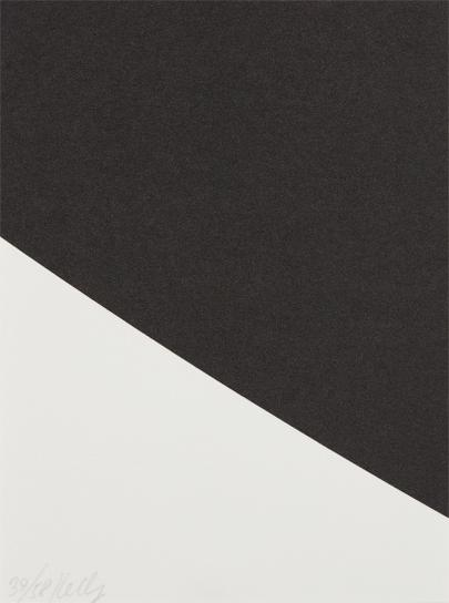 Ellsworth Kelly-Blue Curve (Black State), From Third Curve Series-2000