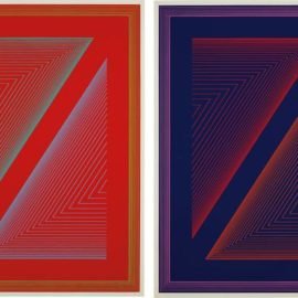 Richard Anuszkiewicz-Reflections Vi - Fire Red; And Reflections Vi - Deep Blue-1979