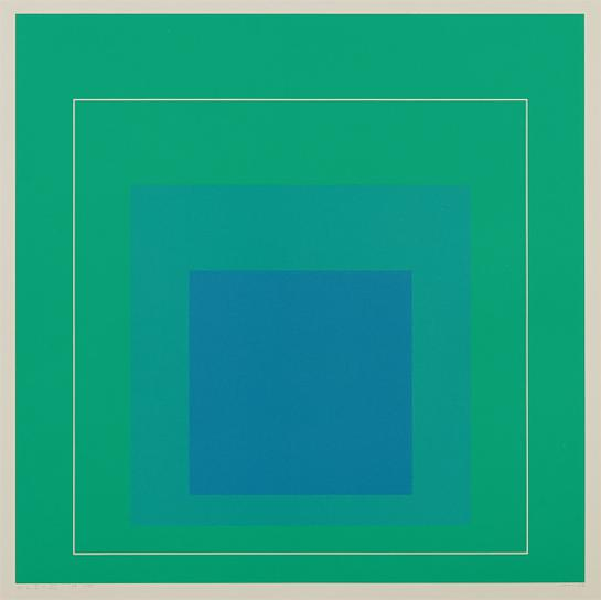 Josef Albers-Wls Iii, From White Line Squares (Series I)-1966