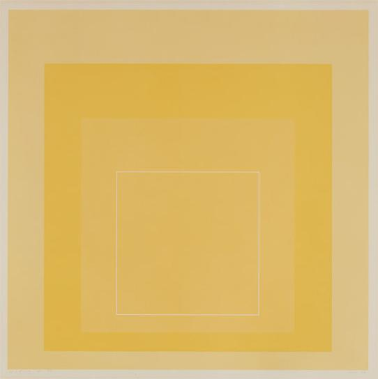 Josef Albers-Wls I, From White Line Squares (Series I)-1966