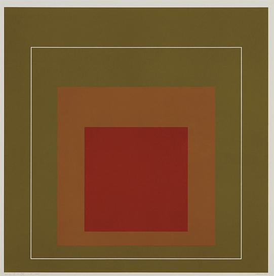 Josef Albers-Wls Iv, From White Line Squares (Series I)-1966