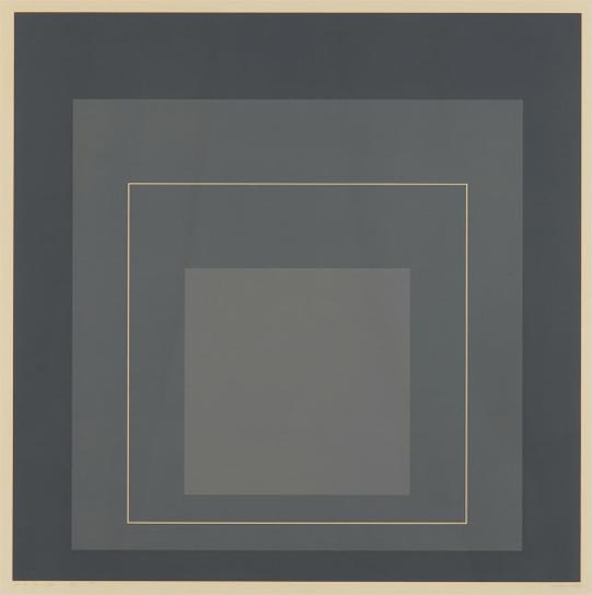 Josef Albers-Wls V, From White Line Squares (Series I)-1969