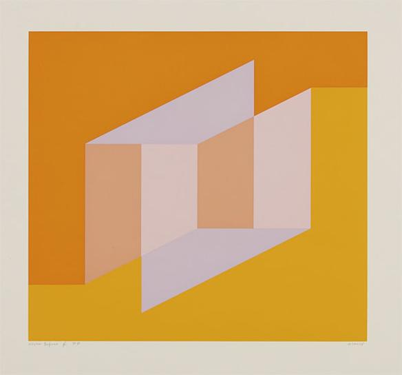 Josef Albers-Never Before F; From Never Before Portfolio-1976