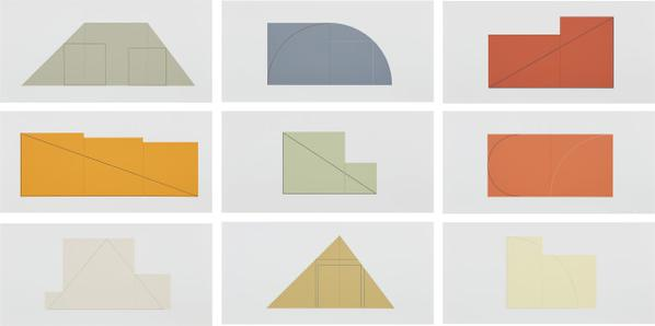 Robert Mangold-Multiple Panel Paintings 1973-1976, Edition B-1988