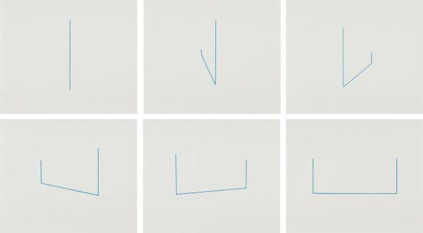 Fred Sandback-Serie Von 6 Lithographien (Six Lithographs)-1975