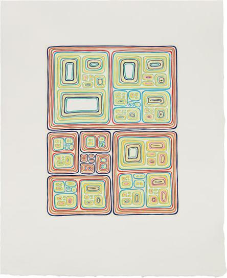 James Siena-Multi-Colored Nesting Unknots-2005