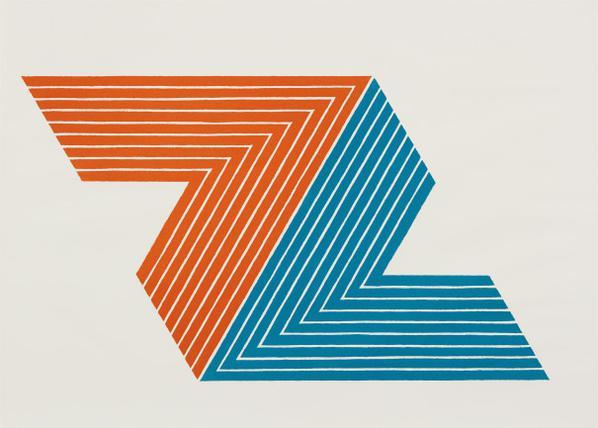 Frank Stella-Itata, From V Series-1968