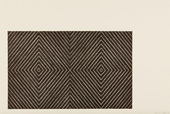 Frank Stella-Delphine And Hippolyte, From Black Series II-1967