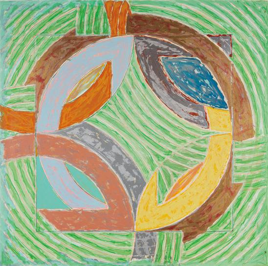 Frank Stella-Polar Co-Ordinates Iv (From Polar Co-Ordinates For Ronnie Peterson)-1980