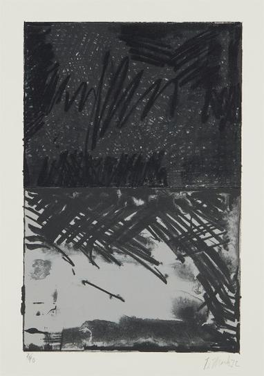 Brice Marden-Untitled Press: Plate #3-1972