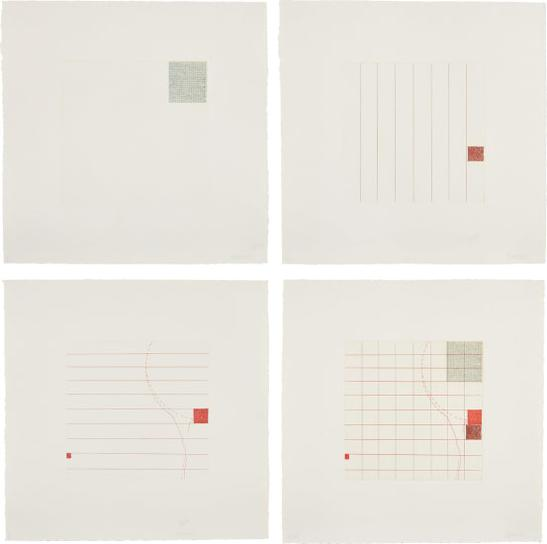 Robert Ryman-Etching In Four Parts-1972