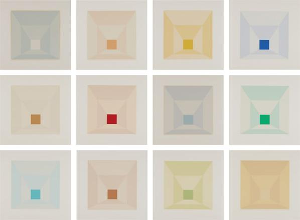 Josef Albers-Mitered Squares-1976