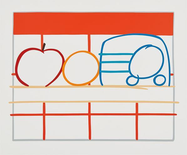 Tom Wesselmann-Still Life With Apple, Orange And Radio-1991