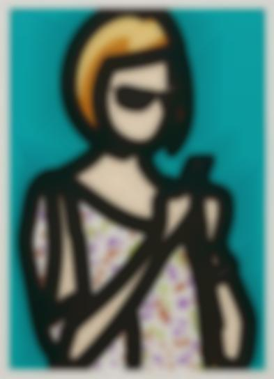 Julian Opie-Tourist With Blouse, From Tourists-2014