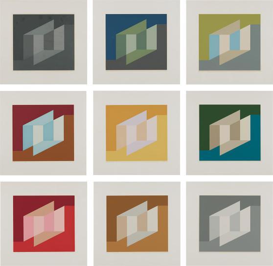 Josef Albers-Never Before: Nine Plates-1976
