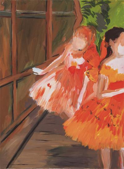 Karen Kilimnik-Dancers In The Wings, Moths, Paris Opera, Degas-2007