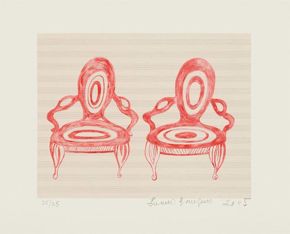 Louise Bourgeois-Twosome, First Version, State VI-2005