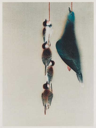 Yasumasa Morimura-Gyoshu (Sparrows And Pigeon)-1990