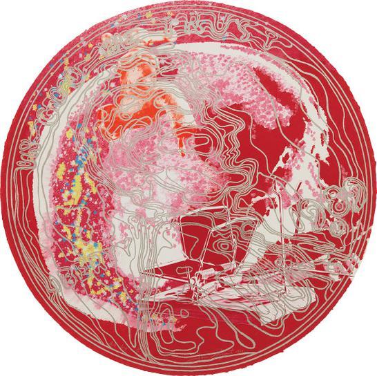 James Rosenquist-Skull Snap (Red)-1989