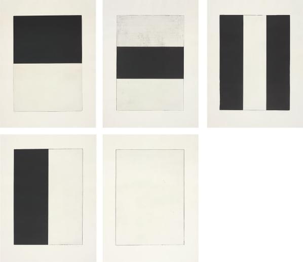 Brice Marden-Five Plates-1973