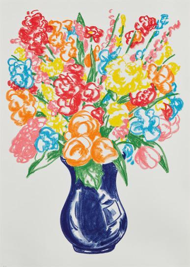 Jeff Koons-Flowers-2001