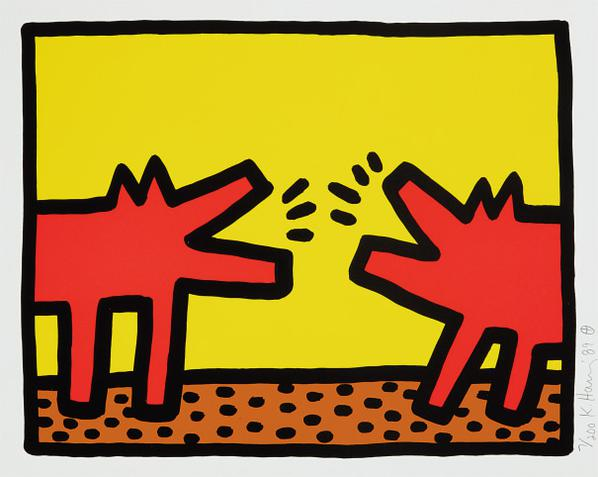 Keith Haring-Pop Shop Iv: One Plate-1989